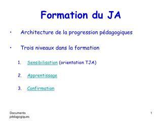 Formation du JA