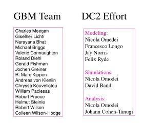 GBM Team DC2 Effort