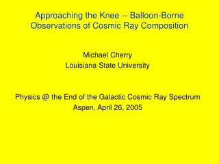 Approaching the Knee -- Balloon-Borne Observations of Cosmic Ray Composition