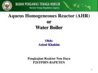 A queus Homogeneoues Reactor (AHR) or  Water Boiler