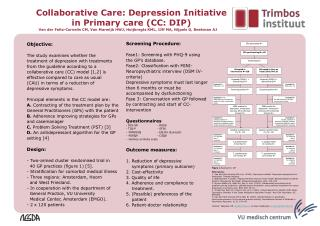 Objective: The study examines whether the  treatment of depression with treatments