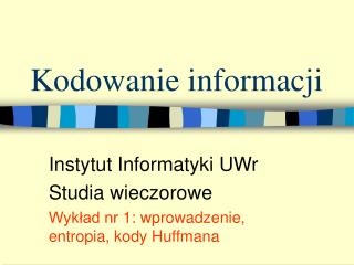 Kodowanie informacji