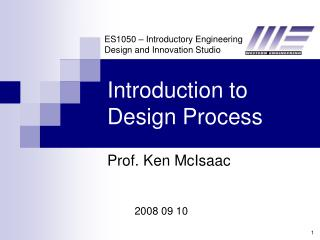 Introduction to Design Process