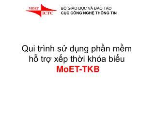 Qui trình sử dụng phần mềm  hỗ trợ xếp thời khóa biểu MoET-TKB
