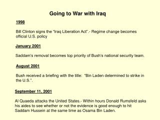 Going to War with Iraq
