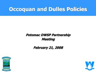 Occoquan and Dulles Policies