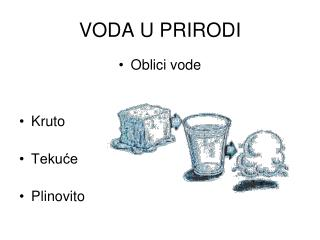 VODA U PRIRODI