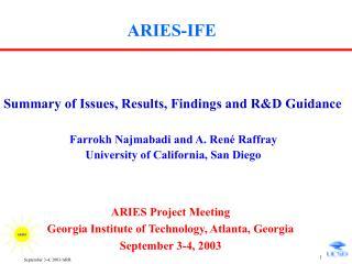 ARIES-IFE