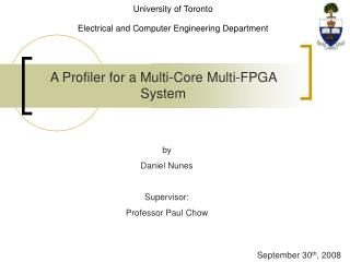 A Profiler for a Multi-Core Multi-FPGA System