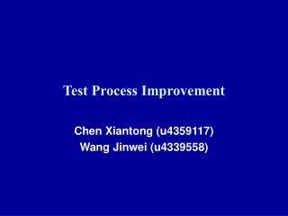 Test Process Improvement