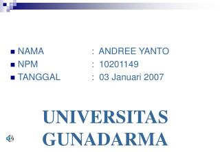 UNIVERSITAS GUNADARMA