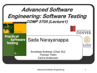 Advanced Software Engineering:  Software Testing COMP 3705 (Lecture1)