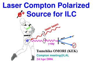 Laser Compton Polarized e +  Source for ILC