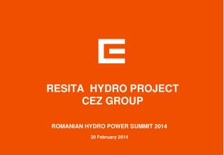 RESITA  HYDRO PROJECT CEZ GROUP