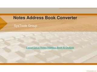 Export Lotus Notes Address Book to Outlook