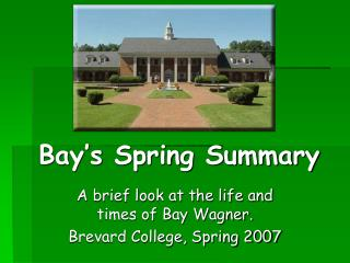 Bay's Spring Summary