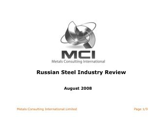 Russian Steel Industry Review
