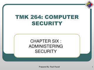 TMK 264: COMPUTER SECURITY