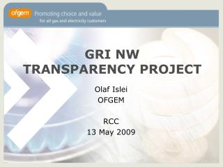 GRI NW TRANSPARENCY PROJECT