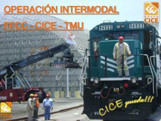 OPERACIÓN INTERMODAL FFCC – CICE - TMU