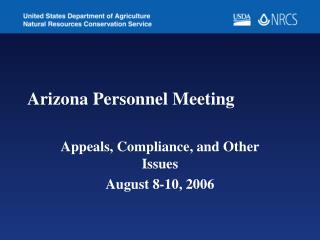 Arizona Personnel Meeting
