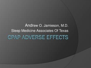CPAP Adverse Effects