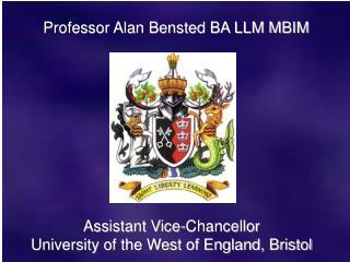 Professor Alan Bensted BA LLM MBIM