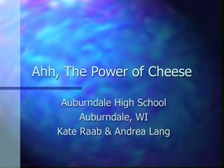 Ahh, The Power of Cheese