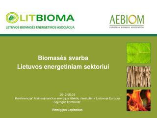 Biomasės  svarba  Lietuvos energetiniam sektoriui
