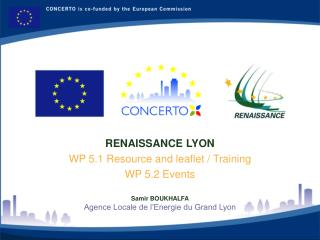 RENAISSANCE LYON WP 5.1  Resource and leaflet / Training WP 5.2 Events