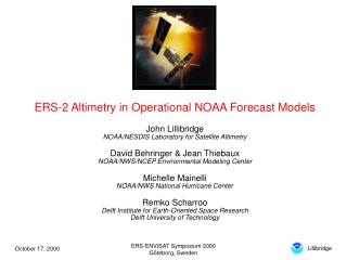 ERS-2 Altimetry in Operational NOAA Forecast Models