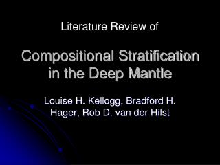 Compositional Stratification in the Deep Mantle