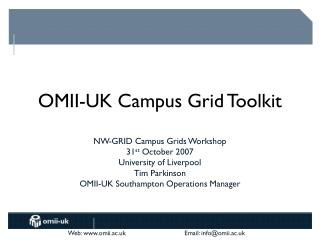 OMII-UK Campus Grid Toolkit