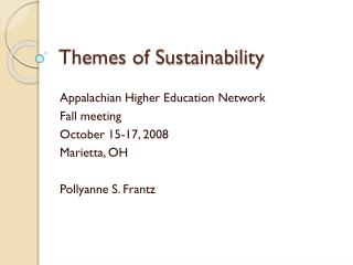 Themes of Sustainability