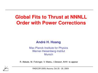Global Fits to Thrust at NNNLL Order with Power Corrections