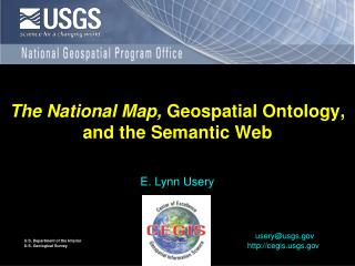 The National Map, Geospatial Ontology, and the Semantic Web