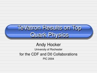 TeVatron Results on Top Quark Physics