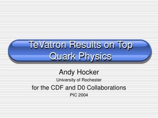 TeVatron Results on Top Quark Physics