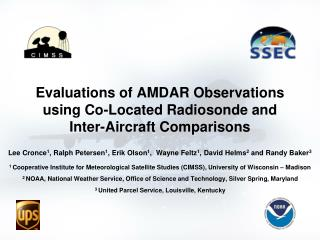 Evaluations of AMDAR Observations using Co-Located Radiosonde and Inter-Aircraft Comparisons