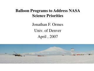 Balloon Programs to Address NASA Science Priorities