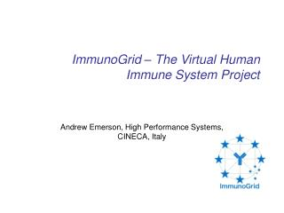 ImmunoGrid – The Virtual Human Immune System Project