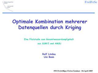 Optimale Kombination mehrerer Datenquellen durch Kriging