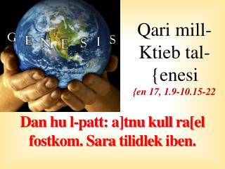 Qari  mill-Ktieb tal-{enesi {en 17, 1.9-10.15-22
