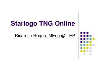 Starlogo TNG Online