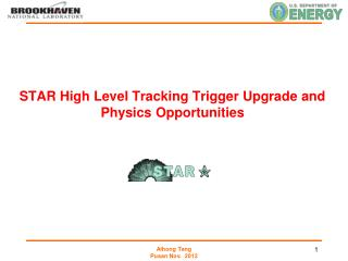 STAR High Level Tracking Trigger Upgrade and Physics Opportunities