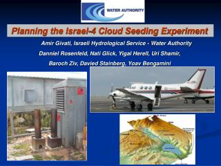 Amir Givati, Israeli  Hydrological Service - Water Authority