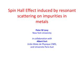 Spin Hall Effect induced by resonant scattering on impurities in metals