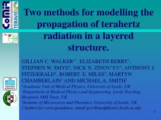 Two methods for modelling the propagation of terahertz radiation in a layered structure.