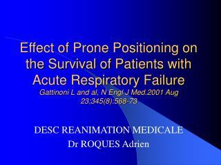DESC REANIMATION MEDICALE Dr ROQUES Adrien