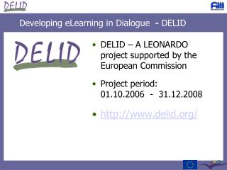 Developing eLearning in Dialogue   -  DELID